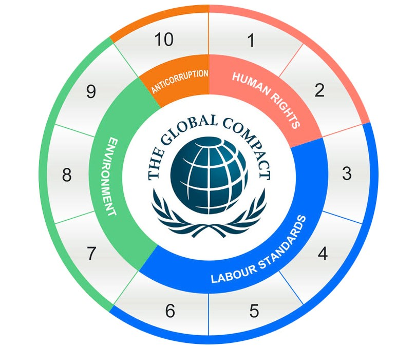 Illustration of the then principles of United Nations global compact principles